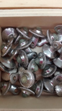 green stone pewter buttons