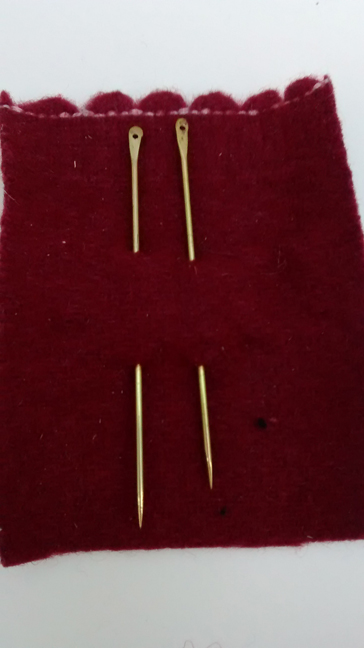 brass needles